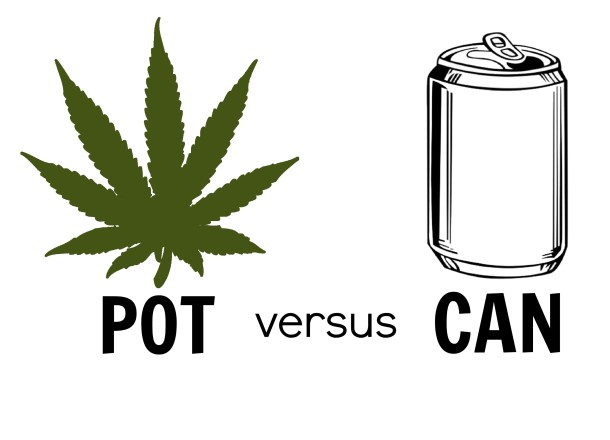 Two evils: marijuana or alcohol?