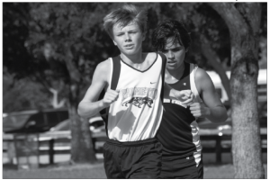 Cross country races to victory