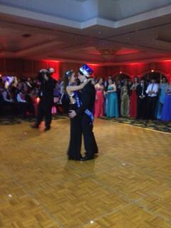 "Prom Queen Adriana Garcia and Prom King Sean Blyer danced during the Enchanted Evening. ""When I was little, seeing all those movies about prom painted this image in my head,"" Prom Queen Adriana Garcia said. ""It was everything I expected and more, it made my prom experience what it was and I can't thank everyone enough! Class of 2014, we rock!"""