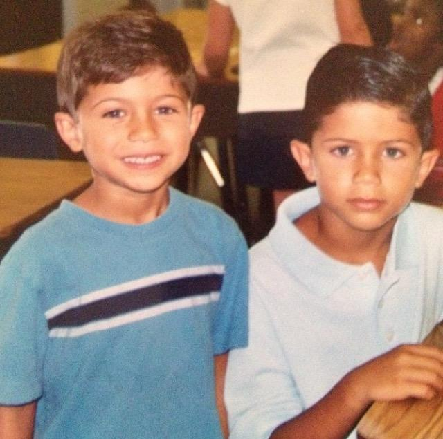 Vincent Leone (right) with his brother Anthony (10).