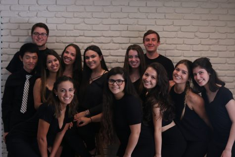 First row: (from left to right) Victoria Arguelles, Sophie Carrillo, Claudia Vera, Megan Martinez and Emily Diez. Second row: Sungho Son, Annabel Sanz, Samantha Ganter, Isabelle Carbajales and Emma Seckinger. Third row: Keith Richards and Shane McCrink.