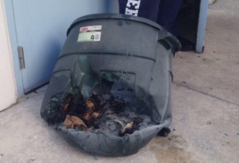 Trash can set afire causes student evacuation