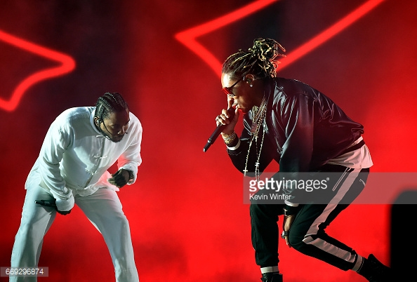performs on the Coachella Stage during day 3 of the Coachella Valley Music And Arts Festival (Weekend 1) at the Empire Polo Club on April 16, 2017 in Indio, California.
