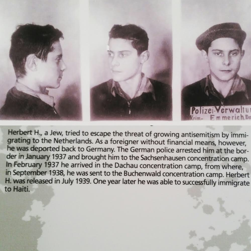 Kanzki's Great-Grandfather, Herbert H. in his mug shots while being arrested by the German police during the Holocaust where he was then imprisoned in a concentration camp.
