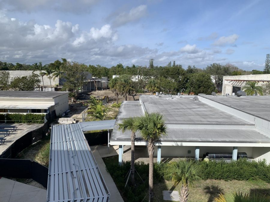 Miami Palmetto Senior High's reconstruction has been focused on the part of the school where the art wing (rooms 900, 902 and 904) used to be. (Photo courtesy of Jonathan Newman)