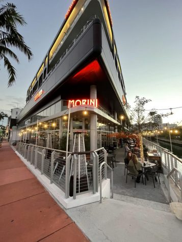 Osteria Morini outdoor view and seating.