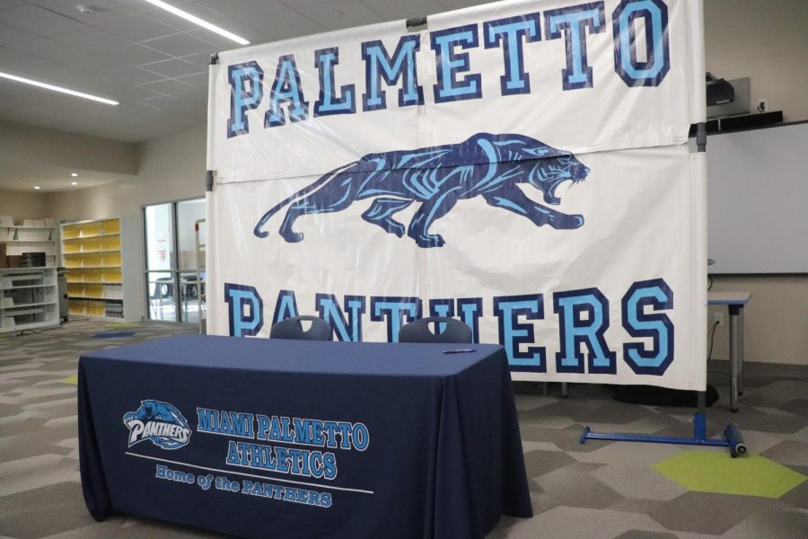 The stage was set up and ready to go for Palmetto's finest to announce where they would continue their athletic pursuits.