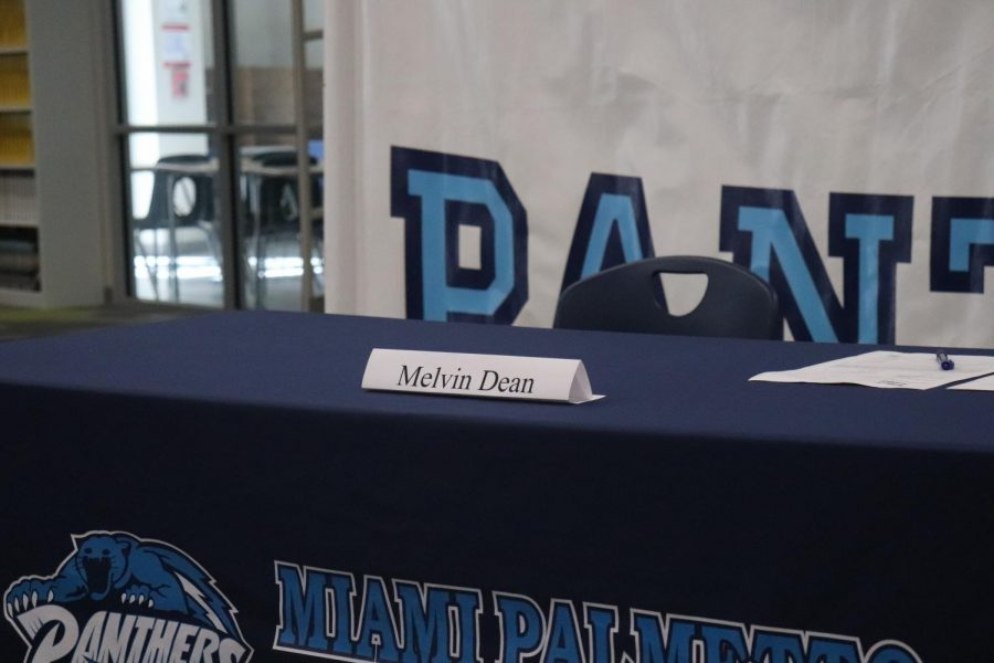 Melvin Dean played defensive end for the Panthers football team this past season.