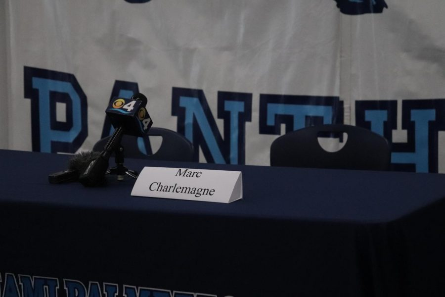 Marc Charlemagne played cornerback for the Panthers football team this past season and accrued a two-star rating from 247 Sports.