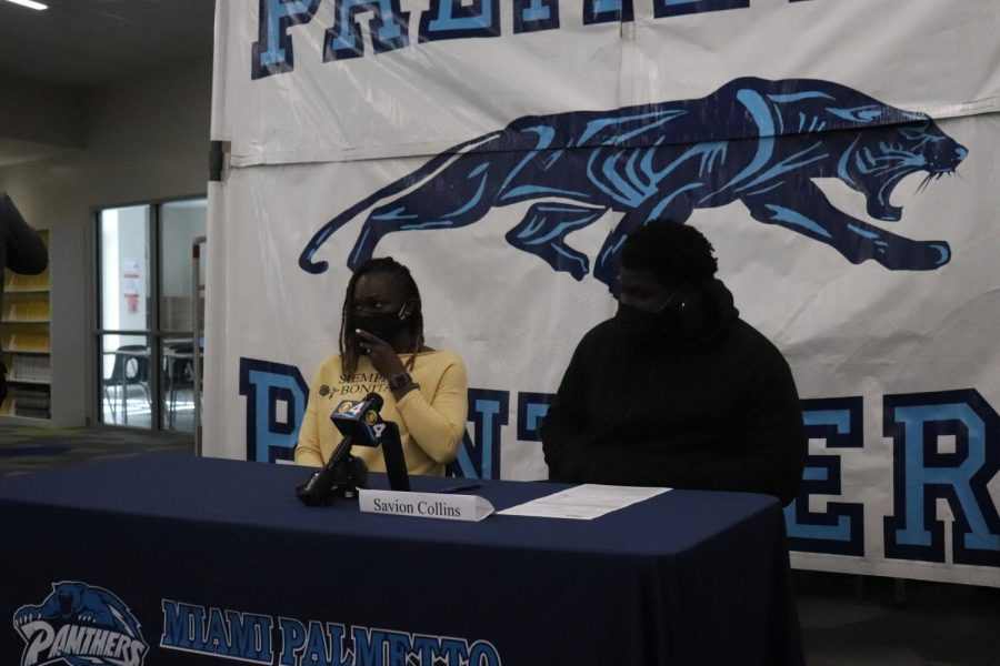 With his mother by his side, Collins ended up signing with Florida International University.