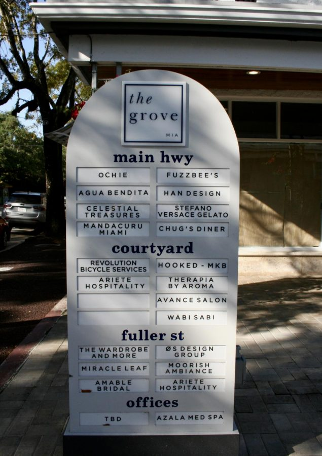 Street directory of Main Hwy in the Grove.