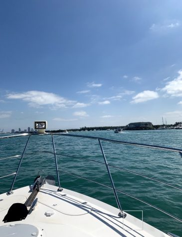 Boating in Miami is perfect for looking at the city and ocean.